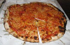Mozz pie at Pepe's Pizza on Wooster Street in New Haven. What's your favorite New Haven pizza?!