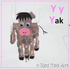 We are coming to and end in our #Handprint Yak Craft Animal #Alphabet series. We have Y for Yak! Only Z to go!! Wow.