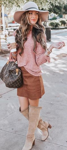 Gorgeous Fall Outfits To Try Now Fall Fashion Outfits, Boho Outfits, Skirt Fashion, Trendy Outfits, Autumn Fashion, Cute Outfits, Teen Fashion, Style Fashion, Boho Hat