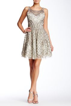 Embellished Fit & Flare Dress by Lotus Threads on @HauteLook