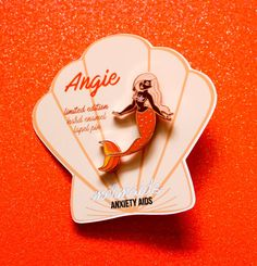 Angie Pinup Mermaid Rose Gold Plated Hard Enamel by AnxietyAids