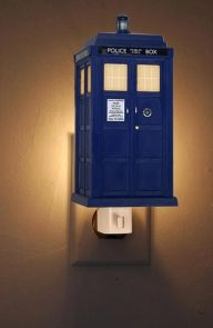 Doctor Who: TARDIS Nightlight. So I can sleep with it every night and give it to my kids when I have them.