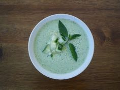 Virtually Homemade: Cold Thai Cucumber Mint Soup. Black Muscat pairing