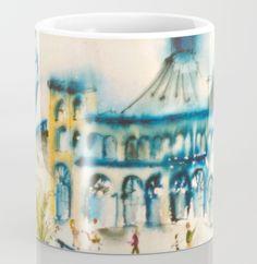 Santa Monica Pier Coffee Mug by laurimatisse Matisse, Santa Monica, Coffee Mugs, Tableware, Fun, Fashion, Dinnerware, Fashion Styles, Coffee Cups
