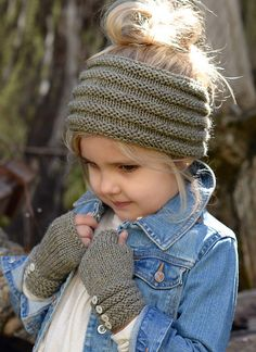 Ravelry: Ridgelyn Set pattern by Heidi May...want to do this set for peanut...headband can be worn as a cowl too