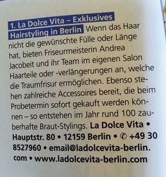 La Dolce Vita im Magazin Meine Brautfrisur