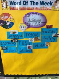 Great example of a Word Wall from Nethermains Primary School. Note the spinner on the top left which ensures the word wall is interactive.