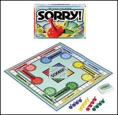 Who can resist those candy-kiss-shaped Sorry pieces? Your kids will love this perennial classic. Ages 6+.