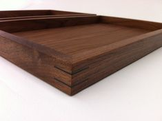 Modern Walnut Display Box Ottoman Trays - Sized To Fit - Interior Design Decor…