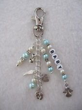 angel baby heart charms from the UK | Personalised Baby Memorial Key / Bag Charm - Baby Loss / Miscarriage ...