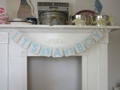 "Baby Shower Banner ""It's A Boy"" Shower Banner by ItzMyParty on Etsy"
