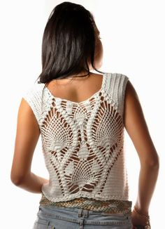 white top       ♪ ♪ ... #inspiration #crochet  #knit #diy GB  http://www.pinterest.com/gigibrazil/boards/