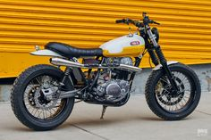 Ray of Sunshine: Daniel Peter's Yamaha SR500 Scrambler | Bike EXIF