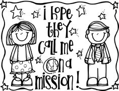 Melonheadz LDS illustrating: I hope they call me on a mission coloring page