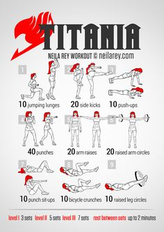 Titania Full-Body Workout ERZA FROM FAIRY TAIL YAASH