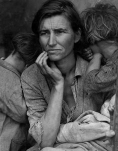 Destitute pea pickers in California. Mother of seven children. Age thirty-two. Nipomo, California. Photographed by Dorothea Lange in Feb or Mar ofåÊ 1936 on 4 x 5 in.åÊ Film Summary: Photograph shows