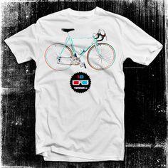 Bianchi bike 3D t-shirt (cool,apparel,design,fashion,illustration,italian,italy,style,t-shirt,tee,vintage)
