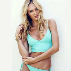 Victoria's Secret Angel Candice Swanepoel rocks the long line bikini trend. Who's a fan?