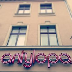 a neon in Poznań, Poland