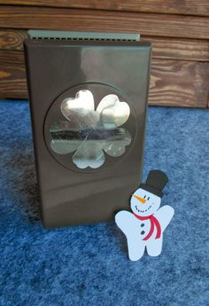 SU Pansy punch snowman - photo tutorial, card example  Stampin' Up!