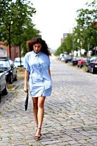 Jeanskleid golden heels
