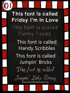 FONTS and a giveaway!