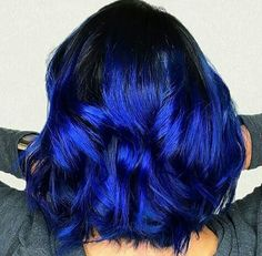 And now, it can be the color of your hair! Blue ombre hair color is what we are talking about. Hair Dye Colors, Ombre Hair Color, Beautiful Hair Color, Cool Hair Color, Electric Blue Hair, Diy Ombre Hair, Curly Hair Styles, Natural Hair Styles, Dye My Hair