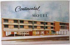 Retro motel art, Continental Motel in Atlantic City. Message rather unintelligible!