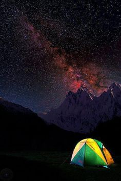 A magical night over Nanga Parbat, The ninth highest peak in the world.