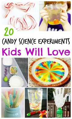 Why not repurpose candy for something super fun that your kids will totally dig?! Seriously, these candy science experiments from Sunshine Whispers are so much fun. Your kids won't even miss the sugar high and rotting teeth! (ha ha) #science #sciencefun #scienceactivities #scienceexperiments #forkids #kidsactivities