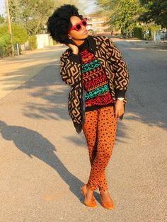 African Prints in Fashion: Blogger feature: Botswana's fashion artist Tsholo Dikobe