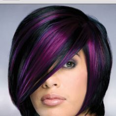 This is EXACTLY what I want for my hair but just a little bit darker purple!