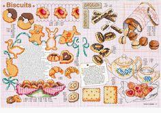 Schemi a punto croce dolci, dolcetti e torte