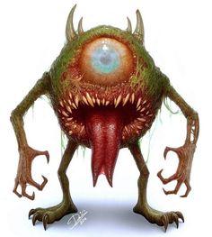 Mike Wazowski from Monsters Inc. Cartoon Cartoon, Horror Cartoon, Zombie Cartoon, Cute Cartoon Characters, Favorite Cartoon Character, Horror Art, Character Art, Disney Characters, Dark Disney