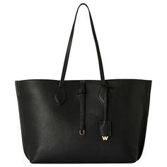 Buy Whistles Regent Soft Leather Tote Bag, Black Online at johnlewis.com