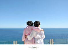 bride daughter cabo destination wedding ocean view