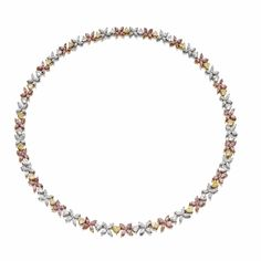 Colored diamond and diamond necklace | Lot | Sotheby's