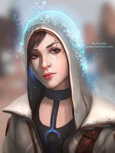 The Invisible hood (overpaint by Sergey Lesiuk) by AyyaSap female armor clothes clothing fashion player character npc | Create your own roleplaying game material w/ RPG Bard: www.rpgbard.com | Writing inspiration for Dungeons and Dragons DND D&D Pathfinder PFRPG Warhammer 40k Star Wars Shadowrun Call of Cthulhu Lord of the Rings LoTR + d20 fantasy science fiction scifi horror design | Not Trusty Sword art: click artwork for source