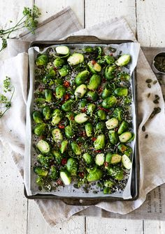 Roasted Chilli and Sesame Brussels Sprouts