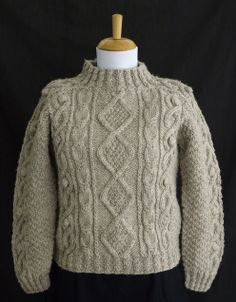 "Knitting Traditions--Beth Brown-Reinsel--Jerod's Aran: A Seamless Aran (age 6 - finished 42"")"