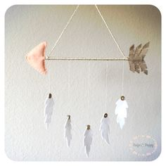Baby Mobile - Nursery Wall Decor - Boho Nursery - Arrow and Feathers Baby Mobile…
