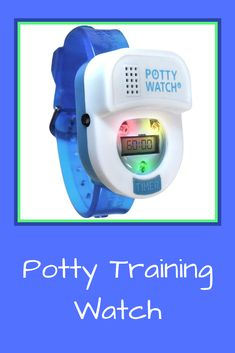 This potty training watch that lets your toddler know when it's time to go to the bathroom. Toilet Training, Potty Training, 1 Year Olds, Lights, Songs, Play, Watch, The Originals, Bathroom