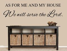 As For Me And My House We Will Serve The Lord Vinyl Wall Decal – Inspirational Wall Signs