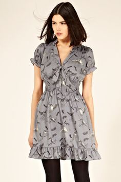 Oasis lace tile print dress