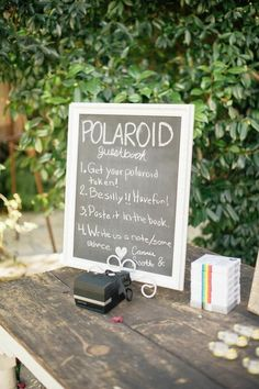 polaroid wedding guest book idea / http://www.deerpearlflowers.com/creative-polaroid-wedding-ideas/