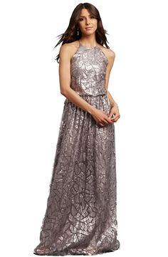 Donna Morgan 'Tiffany' Sequin Halter-Style BlousonGown | Nordstrom