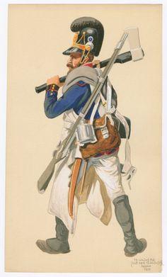 Zappatore di un rgt. di fanteria bavarese