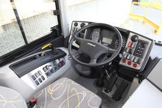 Otokar Dashboard Transport Bus Interior Detail Driver