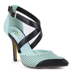 Color: Jade Style: High Heel Pumps Toe Shape: Pointy-toe Heel Height: 4 inches Platform:  None Lining: Manmade Upper: Synthetic Model: Ula-01