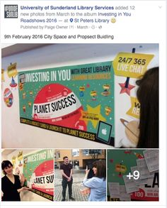 Using facebook to share the story of events happening at one of the recent St. Peter's library roadshows